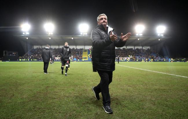 Steve Bruce reacts after the final whistle of Newcastle's FA Cup win at Oxford (Picture: David Davies/PA Wire)
