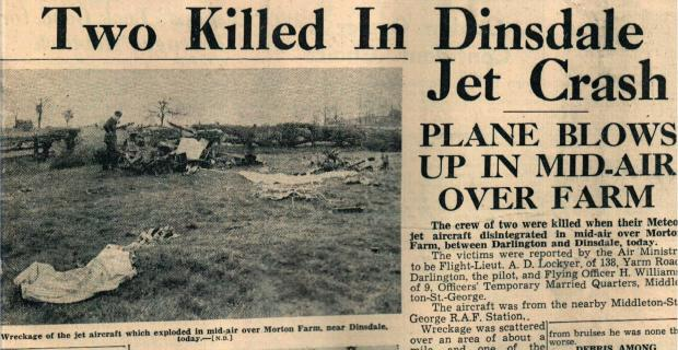 The Northern Echo: When a Meteor jet crashed on Morton Palms, Darlington, on April 24, 1952