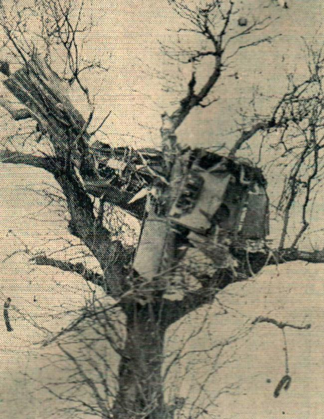 Some wreckage from the Meteor which disintegrated mid-air over Morton Palms farm in 1952