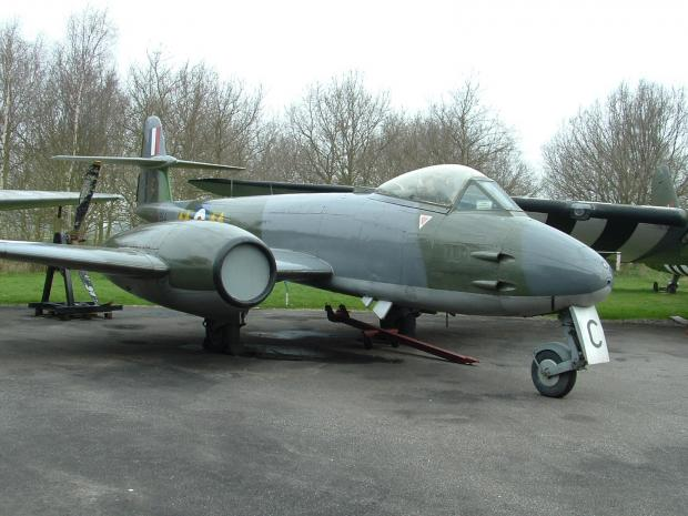 The Northern Echo: Echo memories - Yorkshire Air Museum, Elvington - Gloster Meteor, Britain's only Second World War jet fighter, which fought off V1 anf V2 rockets