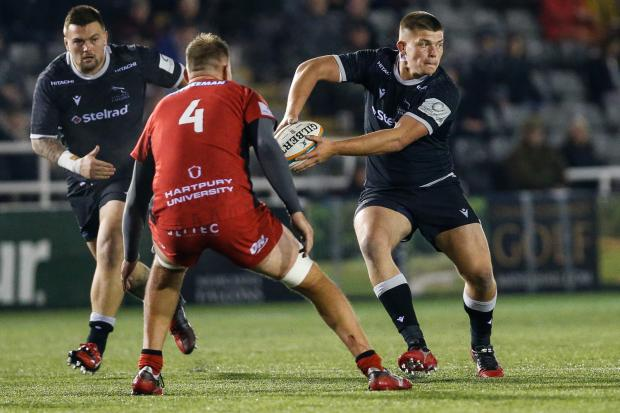 Jamie Blamire of Newcastle Falcons against Hartpury College earlier this season  Picture: Chris Lishman | MI News