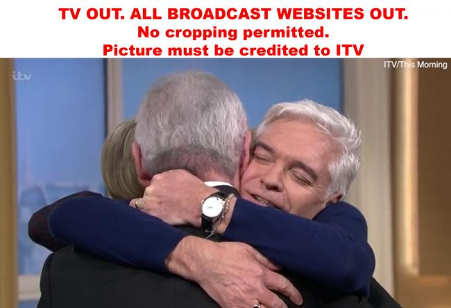 TV OUT. ALL BROADCAST WEBSITES OUT. No cropping permitted. Picture must be credited to ITV. We are advised that videograbs should not be used more than 48 hours after the time of original transmission, without the consent of the copyright holder.