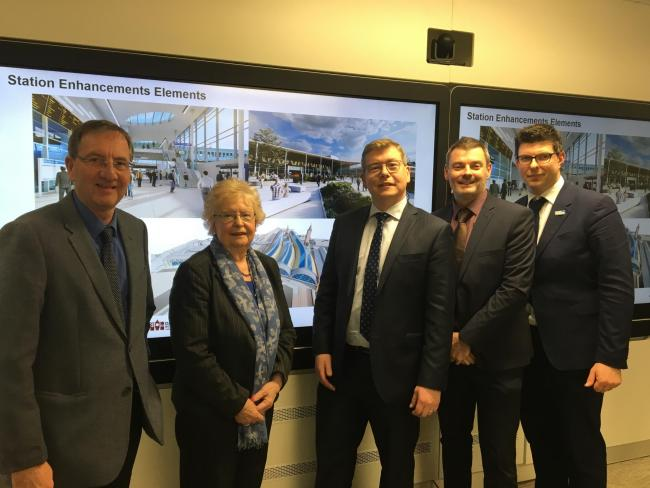 From left, Sedgefield MP Paul Howell, Darlington Borough Council leader Heather Scott, Darlington MP Peter Gibson, Jonathan Spruce and Henri Murison, director of the Northern Powerhouse Partnership