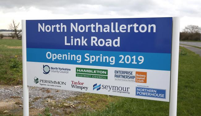 The North Nortallerton link road sinage Picture: Richard Doughty Photography