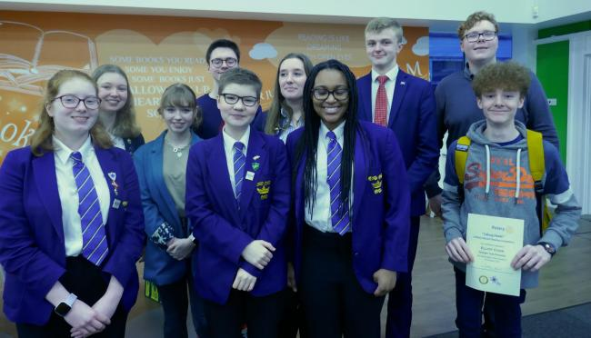 Participants in the second annual Barnard Castle and Darlington Rotary Clubs debating competition, with winners All Saints Academy
