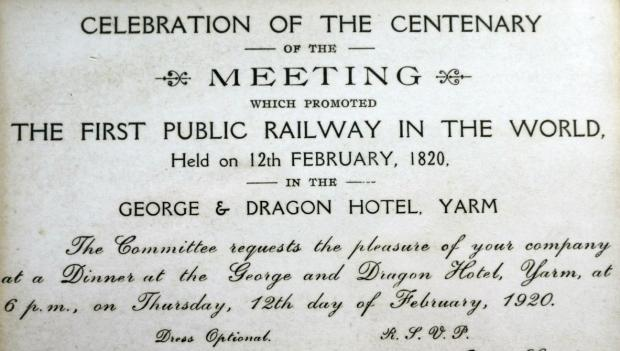 The Northern Echo: The invitation to the 1920 re-enactment of the historic meeting