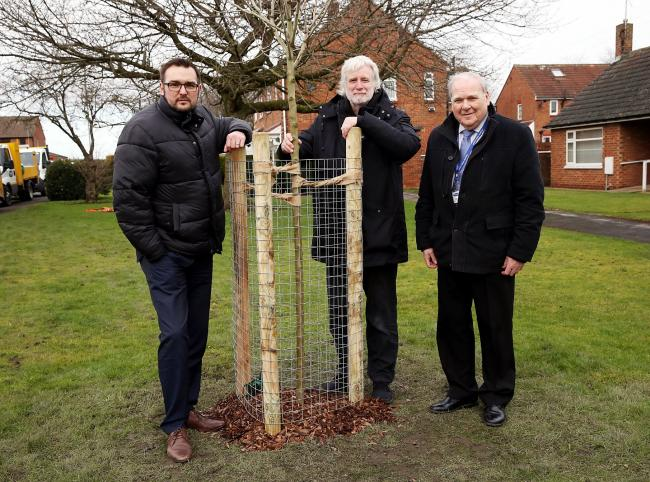 From left, Cllr Carl Marshall, cabinet member for economic regeneration, Cllr John Clare, Durham County Council's climate change champion and Cllr Brian Stephens, cabinet member for neighbourhoods and local partnerships