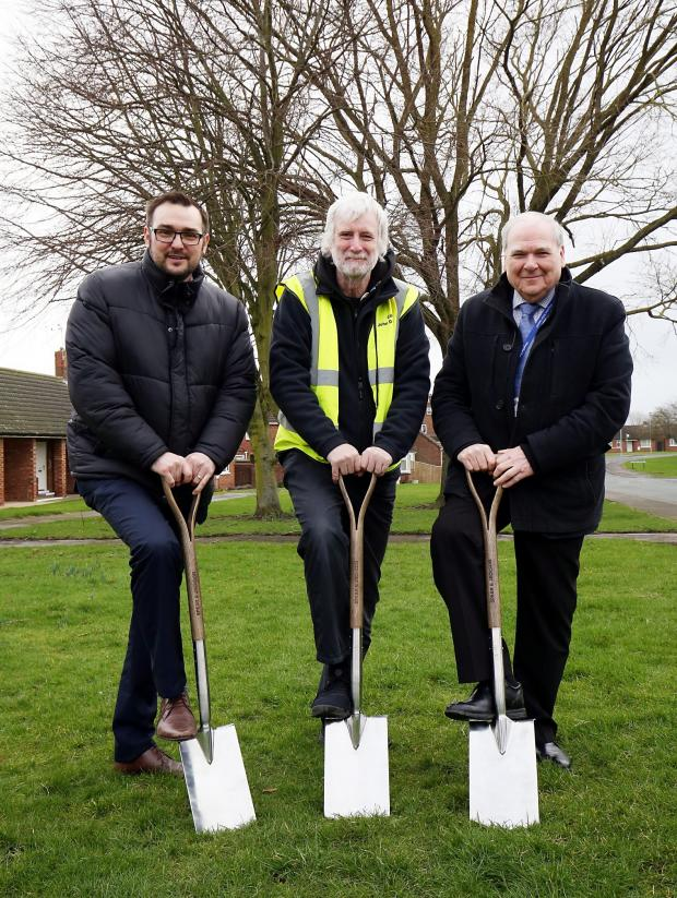 The Northern Echo: From left, Cllr Carl Marshall, cabinet member for economic regeneration, Cllr John Clare, Durham County Council's climate change champion and Cllr Brian Stephens, cabinet member for neighbourhoods and local partnerships