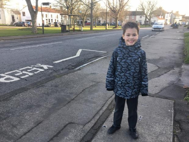 James Stanley, 6, was hit by a car but has thankfully made a full recovery