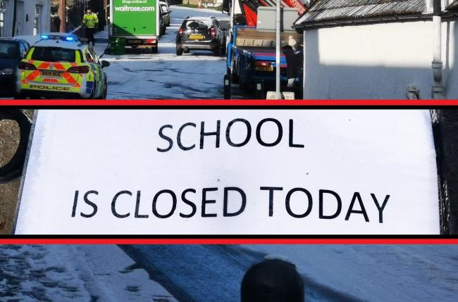 The schools which have announced they are closing today because of heavy snowfall in parts of the North-East