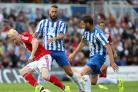 Luke Williams in pre-season action for Boro at Pools in 2014 Picture: CHRIS BOOTH.