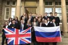 Students celebrate Russian exchange