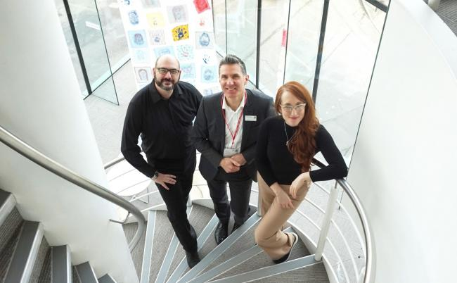 Paul Sutherland, Jonathan Lamb and Sarah Cox of +ADD Strategy at the Forum event