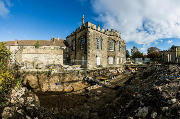 The archaeological excavation of Bek's chapel beside the existing Auckland Castle. All site photographs by Jamie Sproates, courtesy of The Auckland Project
