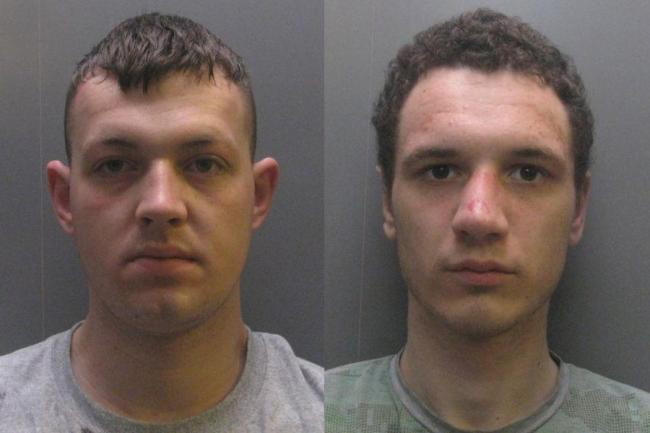 Michael Lonergan, left, jailed for three years and 11 months for robbery and assault. Lewis Benson, right, received a prison sentence of three years and five months for his part in robbery of student.