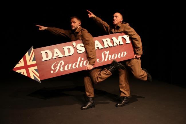 Jack Lane and David Benson in the Dad's Army Radio Show