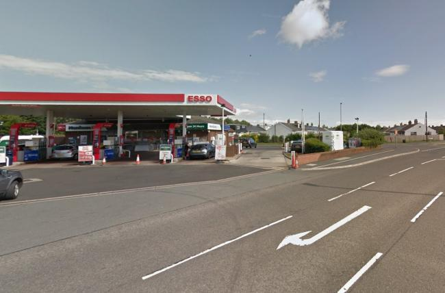 Unlicensed driver Adam Kennedy seen acting suspiciously in BMW at Villa Real Service Station, Consett, late on January 15  Picture: GOOGLE