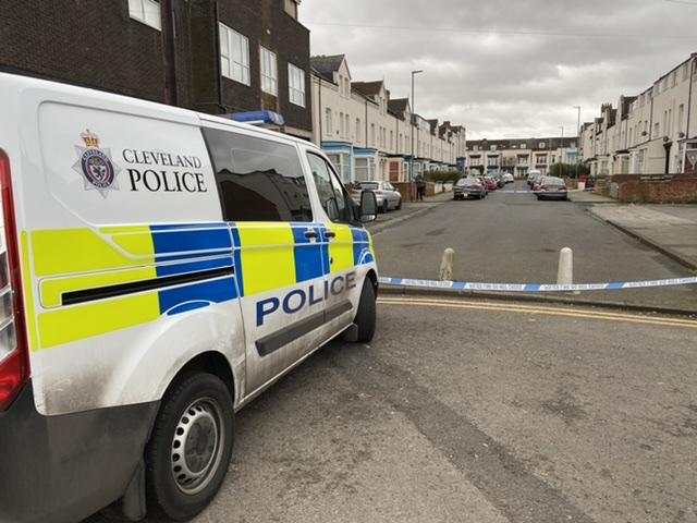 Street cordoned off by police in Stockton