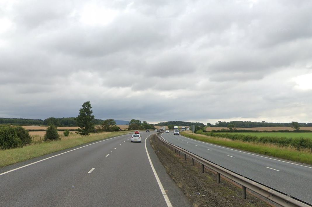 Police appeal after car was knocked off the A19 and overturned into ditch