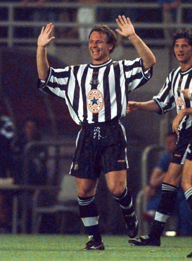 John Beresford scored his first goal from open play for Newcastle United against Manchester City at St James's Park, Newcastle, in the FA Cup 5th Round on February 19,1995