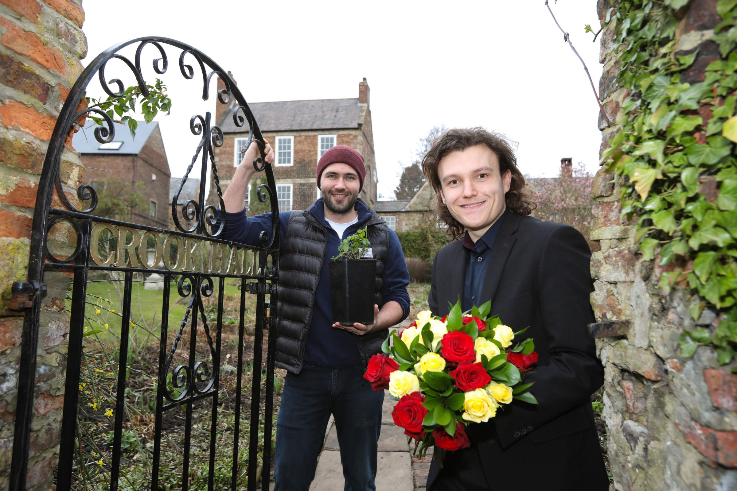 Ethopian Airlines marks first anniversary with gift of roses to Durham's Crook Hall and Gardens