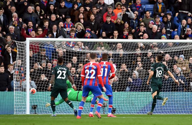 Martin Dubravka can't keep out Patrick van Aanholt's free-kick during Newcastle's 1-0 defeat at Crystal Palace (Picture: Kirsty O'Connor/PA Wire)