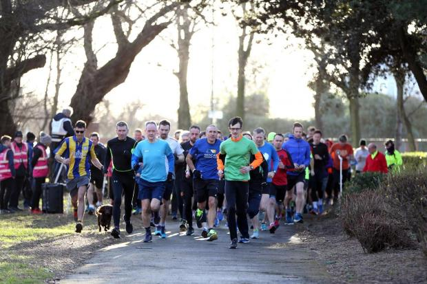 Runners head off for the parkrun in Locke Park, Redcar on Saturday