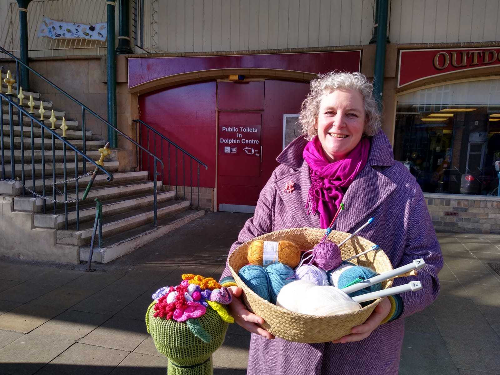 Knitted creations brighten Darlington town centre ahead of market's wool fair