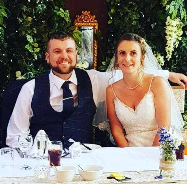 The Northern Echo: Emma and Mark Stanger on their wedding day