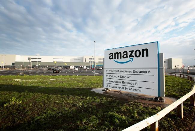 The contract workers are working on Amazon in Darlington Picture: SARAH CALDECOTT