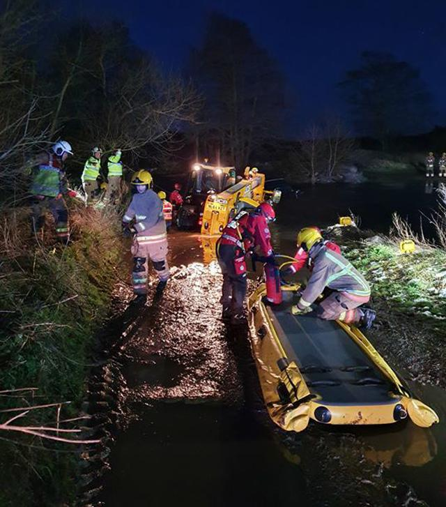 The rescue operation in Witton Gilbert