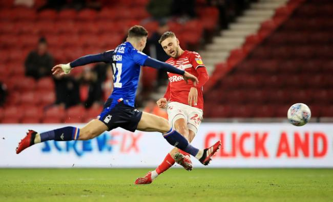 Middlesbrough's Lewis Wing could be back in action on June 6