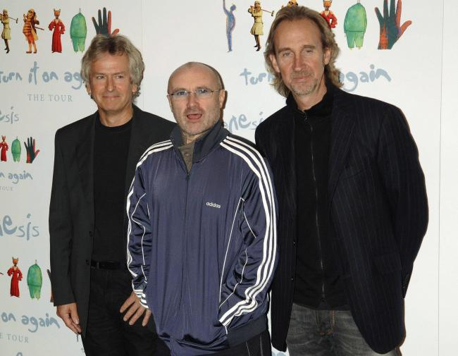 Genesis - including Phil Collins, Mike Rutherford and Tony Banks - reunite for first tour in 13 years. Photo: PA