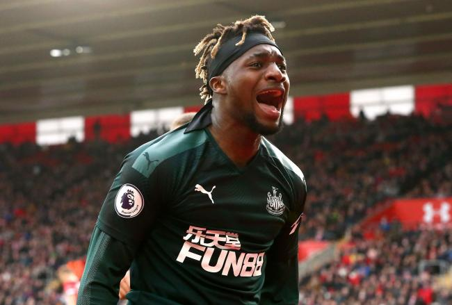 Allan Saint-Maximin celebrates after scoring at St Mary's