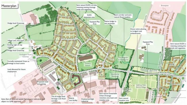 HOUSING SCHEME: The North Northallerton estate masterplan, which includes a link road and bridge between Darlington and Stokesley roads
