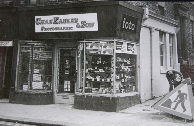 The Northern Echo: Chas Eagles & Son in Crowtree Road, Sunderland. The first store of Charlie Eagles and son Brian