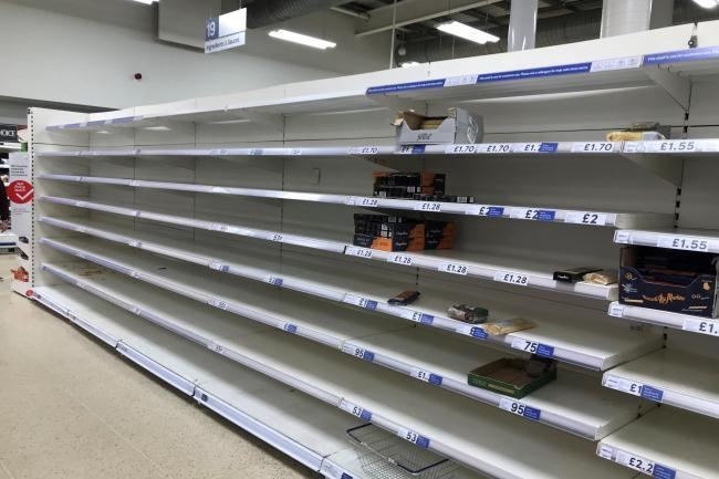 Shelves at supermarkets across the country were stripped bare earlier in the year