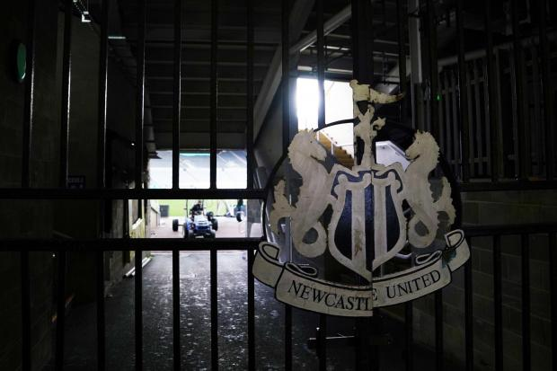 The gates at Newcastle United's St James' Park have been shut as part of Premier League football's lockdown