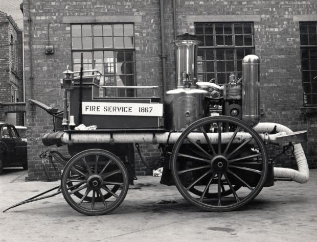 The Northern Echo: An 1867 steampowered fire engine on display at Darlington station in 1967 – whether this engine operated in Darlington is unclear