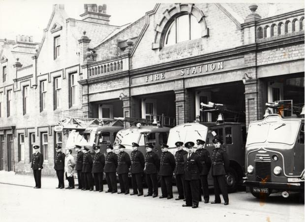 The Northern Echo: A 1960s picture of the brigade outside its Borough Road headquarters, with the firemen's houses on the left. The station is now the Hullabaloo children's theatre