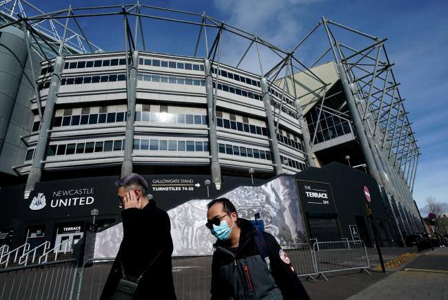 Premier League venues, such as St James' Park, are currently on lockdown because of the coronavirus pandemic, with matches having been postponed until the end of April