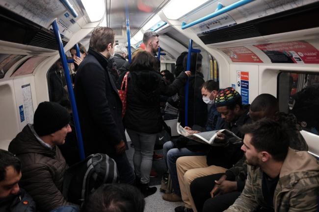 Concerns have been raised about the impact of crowded Tube carriages on the spread of the coronavirus (Yui Mok/PA)