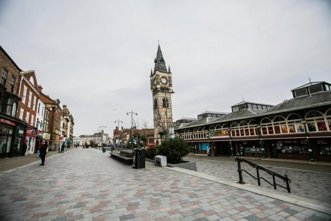 Darlington town centre yesterday Picture: SARAH CALDECOTT