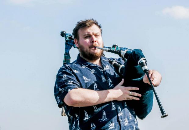 The Northern Echo: Bagpiper Harley Balmer-Howieson