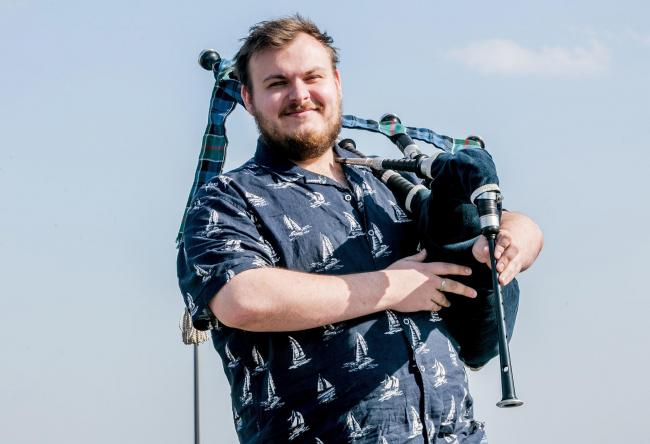 Bag piper Harley from Bishop Auckland Picture: SARAH CALDECOTT