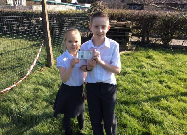 Barton Primary School pupils, siblings Jack and Poppy