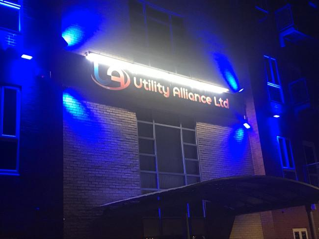 Hartlepool business turns blue in support of NHS staff