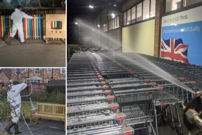 Firm disinfects care homes, schools and supermarket trolleys for FREE