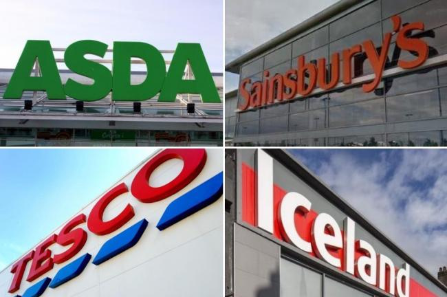 SUPERMARKETS: Asda, Sainsbury's, Tesco and Iceland. Picture: Newsquest