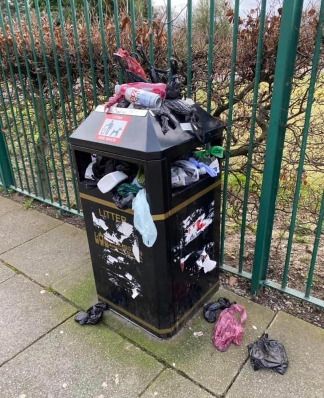 bin on Abbey rd Dton, yesterday morning..